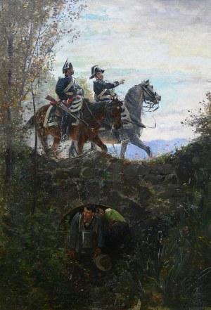 Edouard Castres (1838 Genewa – 1902 Annemasse/Francja) Poszukiwanie dezertera