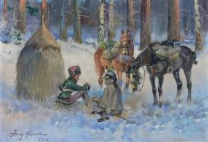 Jerzy Kossak (1886 Kraków – 1955 tamże) Popas, 1944 r.
