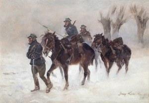 Jerzy Kossak (1886 Kraków – 1955 tamże) Zimowy patrol