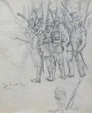 Stanisław Kamocki (1875 Warszawa – 1944 Zakopane) Żołnierze insurekcji kościuszkowskiej w lesie, ok. 1894 r.