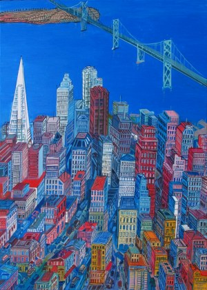 Edward Dwurnik (1943 – 2018) San Francisco, 2007, 70 x 50 cm