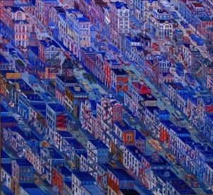 Edward Dwurnik (1943 – 2018) Nowy Jork, 1997, 40 x 40 cm