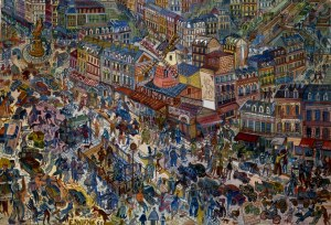 Edward Dwurnik (ur. 1943), Paryż, 1968, 30 x 40 cm