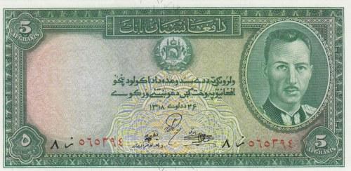 Afghanistan, 5 Afghanis, 1939, ÇİL, p22