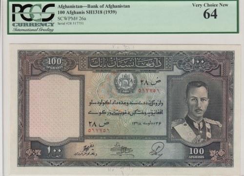 Afghanistan, 100 afghanis, 1939, UNC, p26a