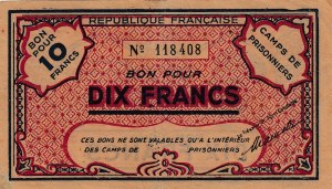 Algeria and Tunisia, 10 Francs, 1945, VF