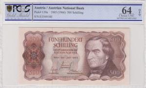 Austria, 500 Shillings, 1966, UNC, p139a