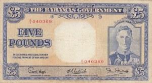 Bahamas, 5 Pounds, 1936, VF (+), p12b