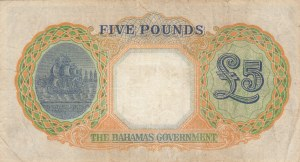Bahamas, 5 Pounds, 1936, VF (+), p12b