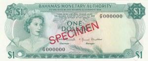 Bahamas, 1 Dollar, 1968, UNC, p27s, SPECIMEN
