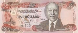 Bahamas, 5 Dollars, 2001, UNC, p63b