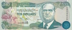 Bahamas, 10 Dollars, 2000, UNC, p64