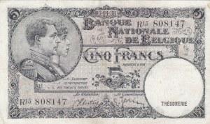 Belgium, 5 Francs, 1938, XF, p108