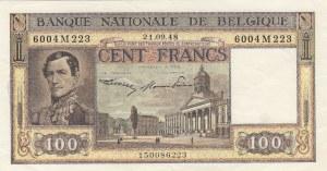 Belgium, 100 Francs, 1948, XF, p126
