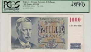 Belgium, 1000 Francs, 1950, XF, p131a