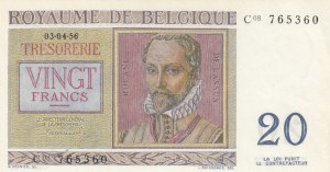 Belgium, 20 Francs, 1956, UNC, p132b