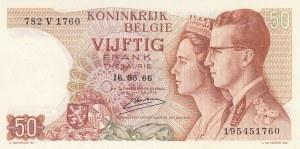 Belgium, 50 Francs, 1966, UNC, p139