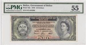 Belize, 10 dolars, 1976, AUNC, p36c