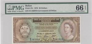 Belize, 20 Dollars, 1976, UNC, p37c