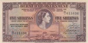 Bermuda, 5 Shillings, 1952, XF-AUNC, p18a