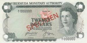 Bermuda, 20 Dollars, 1974, UNC, p31s, SPECIMEN