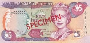 Bermuda, 5 Dollars, 2000, UNC, p51s, SPECIMEN