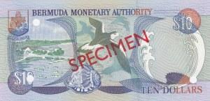 Bermuda, 10 Dollars, 2000, UNC, p52s, SPECIMEN