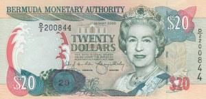 Bermuda, 20 Dollars, 2000, UNC, p53