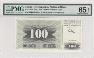 Bosnia- Herzegovina, 100 Dinara, 1992, UNC, p13a