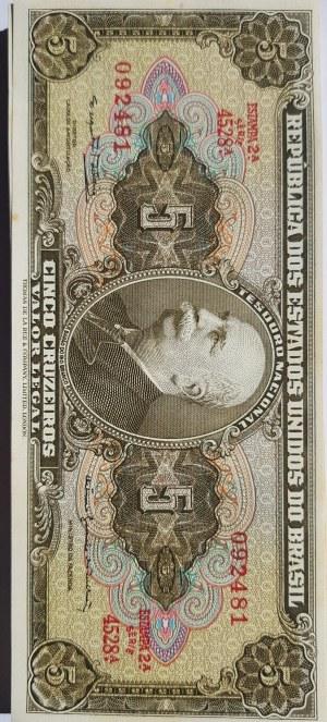 Brasil, 5 Cruzeiros, 1962-1964, AUNC, p176, (Total 55 banknotes)