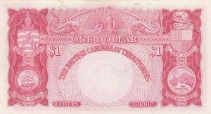 British Caribbean, 1 Dollar, 1958, AUNC-UNC, p7c