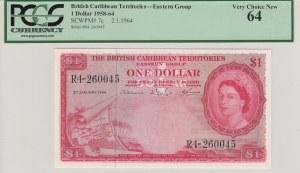 British Caribbean, 1 Dollar, UNC, p7c