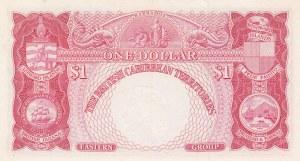 British Caribbean, 1 Dollar, 1958, AUNC, p7c