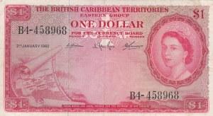 British Caribbean, 1 Dollar, 1962, XF, p7c