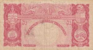 British Caribbean, 1 Dollar, 1958, FINE, p7c