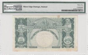 British Caribbean, 5 Dollars, 1963, VF, p9c