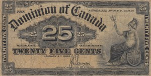 Canada, 25 Cents, 1900, VF (-), p9c