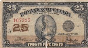 Canada, 25 Cents, 1923, FINE, p11