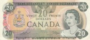 Canada, 20 Dollars, 1979, VF / XF, p54cA-i