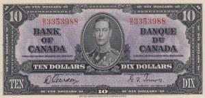 Canada, 10 Dollars, 1937,UNC, p61b