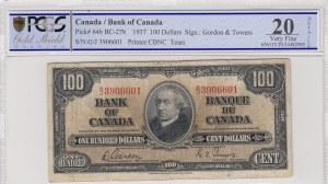 Canada, 100 Dolllars, 1937, VF, p64b