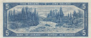 Canada, 5 Dollars, 1954, VF, p68a, DEVİL'S FACE