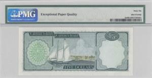 Cayman Islands, 5 dollars, 1972, UNC, p2a