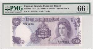Cayman Island, 40 dollars, 1981, p9a