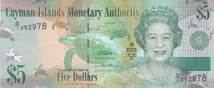 Cayman Islands, 5 Dollars, 2010, UNC, p39