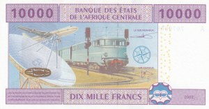Central African States, 10.000 Francs, 2002, UNC, P410a
