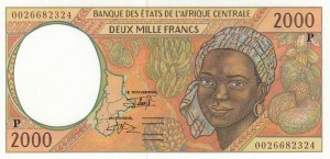 Central African States, 2000 Francs, 2000, UNC, p603Pg