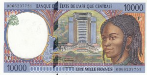 Central African States, 10.000 Francs, 2000, UNC, p605Pf
