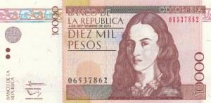 CoLombia, 10.000 Pesos, 2013, UNC, p453