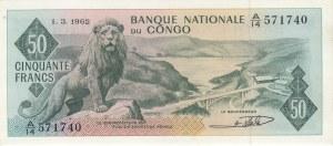 Congo, 50 Francs, 1962, UNC, p5